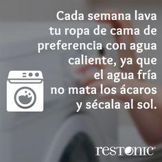 Lava tu ropa de #cama con agua caliente para matar los caros. #consejos #tips #hogar