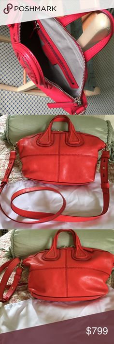 Givenchy cross body nightingale bag Charming authentic bag. Beautiful red new condition never worn removable long strap Givenchy Bags Crossbody Bags