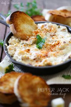 Pepper Jack Cheese Dip from chef-in-training.com …This Dip is the perfect blend of heat and cool! It is the hit of the party!
