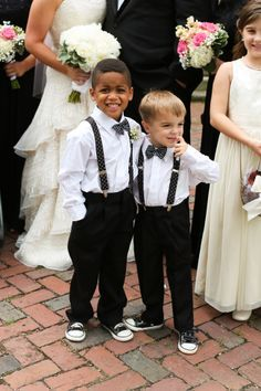 SO CUTE! Adorable ring bearer outfits! Timeless Gold and Black Southern Wedding - Fab You Bliss