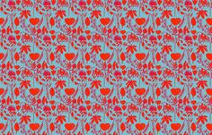 Red and Blue Natives fabric by katrina_ward on Spoonflower - custom fabric