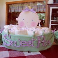 cricut ideas   2520 Saw this cute idea on Cricut MB for a Baby Shower Centerpiece ...