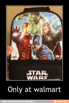 Fail Star Wars: Avengers only at Walmart. You had one job. Only At Walmart, People Of Walmart, Stupid People, Walmart Funny, Funny People, Super Funny, Really Funny, The Funny, Funny Quotes