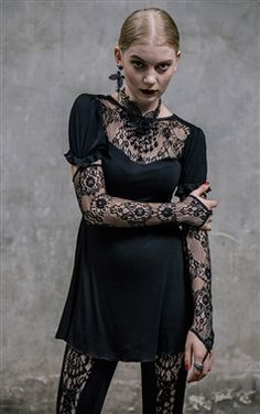 Devil Fashion Gothic Willow Top