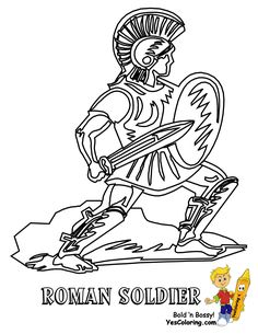 roman soldier coloring page to print for your army coloring page collection