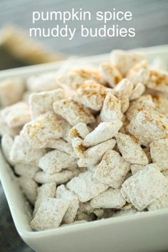 """Pumpkin Spice Muddy Buddies 