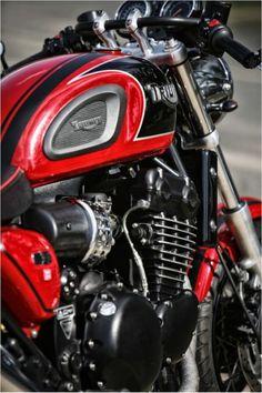 67 ideas for motorcycle sport triumph bonneville Triumph Motorbikes, Triumph Bonneville, Triumph Motorcycles, Triumph Scrambler, Cafe Racer Motorcycle, Motorcycle Style, Motorcycle Outfit, Triumph Thunderbird 900, Triumph Cafe Racer