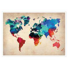 Vos murs se parent d'une invitation au voyage avec cette affiche colorée qui distille une note fraîche dans votre intérieur.   P...
