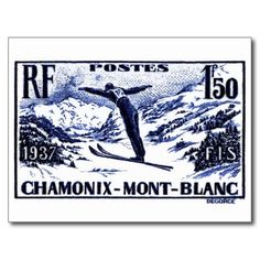 Shirts, clothing, drink ware, iphone, ipod and ipad covers, home accessories featuring an antique 1938 engraved postage stamp depicting a ski jumper in mid flight and issued by France to promote the International Ski Federation (FIS) skiing competition held in Chamonix-Mont-Blanc.  #france, #chamonix, #ski, #postagestamp, #montblanc, #wintersport, #french, #ephemera, #vintage, #alps, ,#downhill, #skijump, #vintagepostcard
