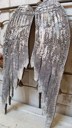 angel wings..could upcycle..nice for Christmas, winter or valentines decor