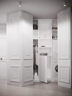 Closet doors are vital, yet commonly ignored when it pertains to room decor. Develop a makeover for your area with these closet door ideas. It is essential to create special closet door ideas to beautify your house decor. House Design, Door Design, House, Interior, Wall Closet, Hidden Closet, House Interior, Beautiful Apartments, Hospital Interior Design