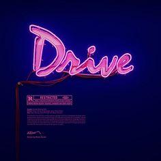 Drive, neon, graphic design, Rizon Parein, 3D, Master, ING, I Love Belgium, Blog