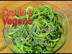 spaghetti di zucchine al pesto vegan - YouTube