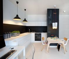Inspiracje: biało - czarne kuchnie naszych architektów - Myhome