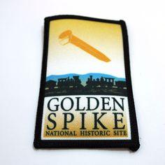Golden Spike National Historic Site Souvenir Patch Promontory Summit Utah