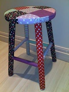 Patchwork stool - lovely!