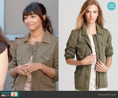 Cece's army jacket on New Girl.  Outfit Details: http://wornontv.net/48662/ #NewGirl