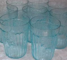 Oh Depression Glass Glasses: SqUeeXy (for the main home kitchen) ♥