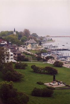 Mackinac Island, MI. I was married right next to all those lilacs in the center. The smell was unforgettable.  :)