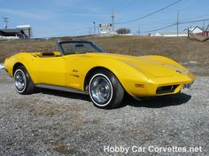 1973 Yellow Corvette Convertible For Sale Classic Hot Rod, Classic Cars, My Dream Car, Dream Cars, Yellow Corvette, Hobby Cars, Corvette For Sale, Corvette Convertible, Saddle Leather