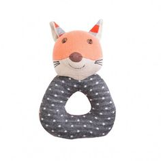 Frenchie Fox Teething Rattle