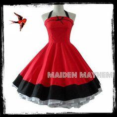 Vintage Rockabilly Swing Dress