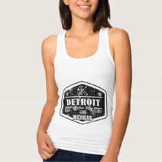 #vintage - #Detroit Tank Top