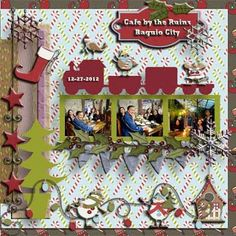 designer work for Crescent Moon Designs All Wrapped Up 1 Template 4 with Holiday Cheer digital kit