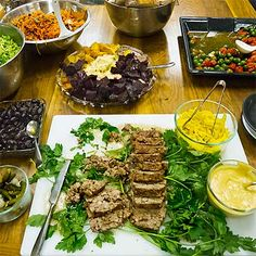 Appetizers and Salads for Fireman Dinner, most are from Tastes Like Home: Mediterranean Cooking in Alaska. The pate/terrine recipe is new (along with recipe for delicious Turmeric Pickled Onions) and posted with article. *Gluten free