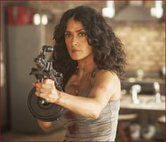 Watch: #SalmaHayek Takes On The Bad Guys In New 'E...