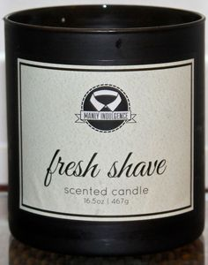 FRESH SHAVE Manly Indulgence 16.5oz Candles Man Candles Cologne 1 wick NEW  | eBay