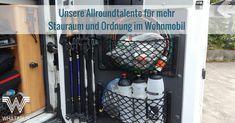 WHATABUS-Tipps zur Optimierung des Stauraums in Wohnmobil und Kastenwagen mit Netzen und Werkzeughaltern - ganz einfach und auch günstig!