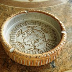 Vintage Puerto Rico earthenware glazed ceramic ashtrays not that I smoke. But this is beautiful
