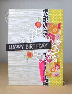 Happy Birthday card by Savannah O'Gwynn for Paper Smooches - Cute Cluster Die, Precious Mom, Mom Word Die