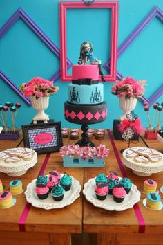 Monster High Party with Lots of Cute Ideas via Kara's Party Ideas   KarasPartyIdeas.com #MonsterHighParty #Party #Ideas #Supplies (42)