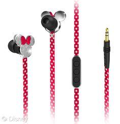Adorable Earphones for the Disneyphile Music Lover! #DisneySide #Disney #MinnieMouse