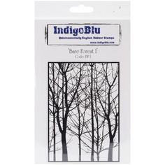 """Look what I found on #blitsy! IndigoBlu Cling Mounted Stamp 7""""X4.75""""-Bare Forest #blitsybuys"""