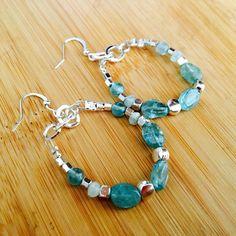 Earrings in Apatite stone.