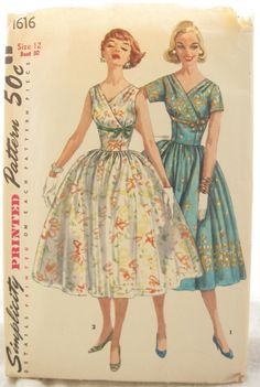 Simplicity 1616 Full Skirt 1950s Semi Formal Dress by EmSewCrazy, $40.00 https://www.etsy.com/listing/151862100/simplicity-1616-full-skirt-1950s-semi?ref=v1_other_2