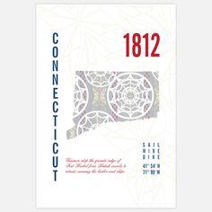 Fab.com | Connecticut Map Print 13x19