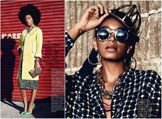Solonge Knowles for Glamour France 2012