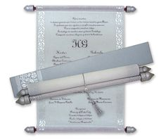 White and Silver theme Scroll Invitations Scroll Wedding Invitations, Scroll Invitation, Engagement Invitations, Invitation Ideas, Invite, Menu Cards, Table Cards, Money Envelopes, Sweet Box