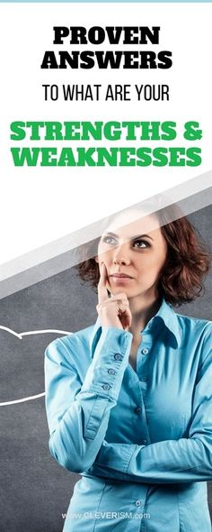 """Proven Answers to """"What Are Your Strengths and Weaknesses.Proven Answers to """"What Are Your Strengths and Weaknesses. When it comes to job interview questions, the question """"What are your strengths and weaknes. Interview Weakness Answers, Strength And Weakness Interview, Interview Tips Weaknesses, Job Interview Answers, Job Interview Tips, Interview Preparation, Interview Nerves, Teacher Interview Questions, Behavioral Interview Questions"""
