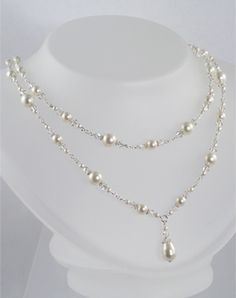 Pearl necklace - not that I need a necklace with my dress...
