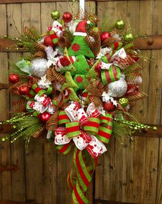 Christmas tree wreath. $110.00, via Etsy.