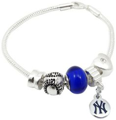 "MLB New York Yankees Bead Bracelet by aminco. $19.99. Aminco's Fashion Jewelry allows the female sports fan to support their favorite team in a tasteful and subtle way.  Our Touch Fashion Jewelry will allow the female fan to look chic either on ""Game Day"" or in the ""Off Season""."