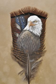 Custom Feather Art By Melissa Ball Eagle Painting, Feather Painting, Feather Art, Bird Feathers, Painted Feathers, Hand Kunst, Christmas Face Painting, Patriotic Pictures, Image Nature