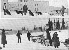 Census takers and dogsled teams prepare to conduct the 1910 census in Alaska. In 1910, Alaska's population was 64,356. Learn more at http://www.census.gov/history/
