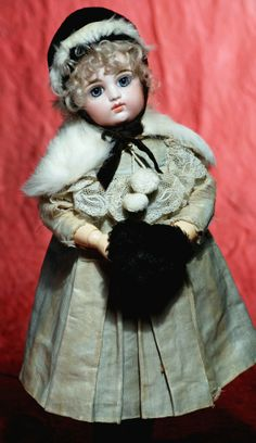 LOVELY BLUE-EYED FRENCH BISQUE BEBE BY GAUTHIER.
