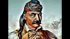 """Theódoros Kolokotrónis, Greece, general in Greek war of independence against the Ottoman Empire responsible for the """"Tripolitsa siege"""", 30 000 victims, born April died February Greek Independence, Greek History, Simple Minds, Light Of The World, Ottoman Empire, Passed Away, Greece, Sketches, Hero"""